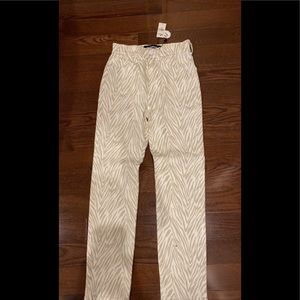 brand new with tags express zebra print tan jeans